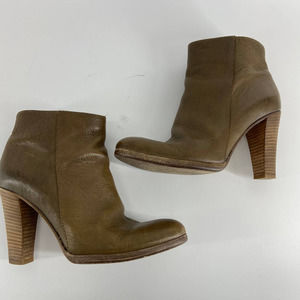 1937 Madewell Brown Gray Leather Heeled Bootie